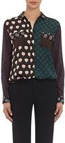 Lanvin Women's Patchwork-Print Blouse-BLACK, GREEN, NO COLOR