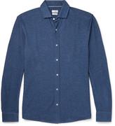 Brunello Cucinelli - Slim-fit Cutaway-collar Cotton-piqué Shirt