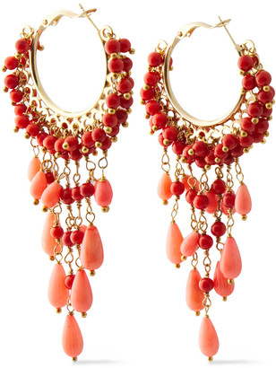 Rosantica Corallo Gold-tone Stone Earrings
