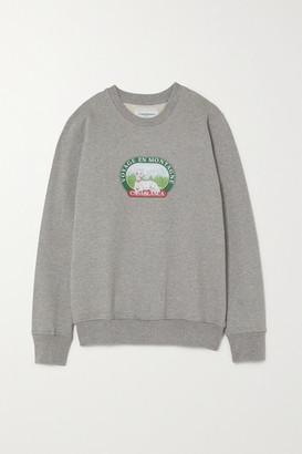Casablanca Printed Cotton-jersey Sweatshirt - Gray