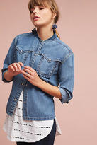 Paul & Joe Sister Wilma Denim Bomber Shirt Jacket