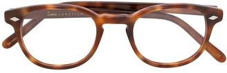 Lesca Tortoiseshell-Effect Round Glasses