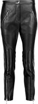 Alexander Wang Leather paneled stretch-cady straight-leg pants