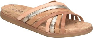 Comfortiva Leather Slide Sandals - Cayce