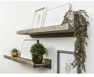 Three Posts Tishie Floating Wall Shelf Finish: Gray