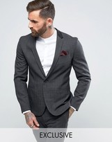 Religion Skinny Suit Jacket In Check