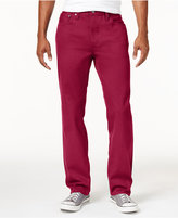 Mens Red Twill Pants - ShopStyle