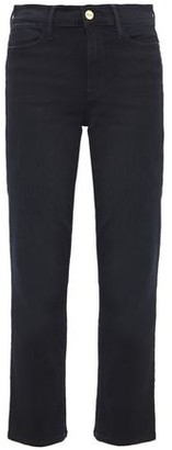 Frame Le High Cropped Faded High-rise Slim-leg Jeans