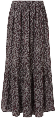 Vanessa Bruno Gibson Gathered Printed Jacquard Maxi Skirt