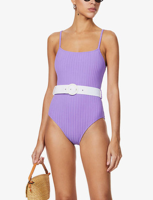 Solid & Striped Belted high-leg swimsuit