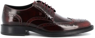 Tod's Perforated Detail Lace-Up Shoes