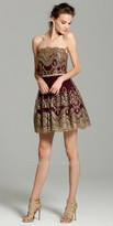 Camille La Vie Strapless Embroidered Homecoming Dress