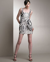 Derek Lam Silk Zebra Print Dress