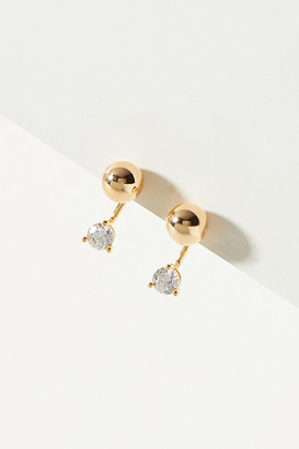 Anthropologie Gita Front-Back Earrings By in Gold