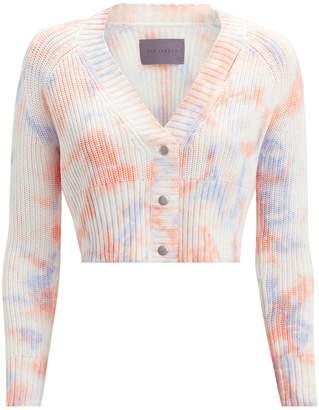 Zoe Jordan Nalon Tie-Dye Cropped Cardigan