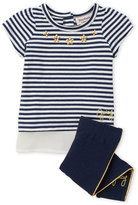 juicy couture (Infant Girls) Two-Piece Stripe Tunic & Leggings Set
