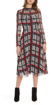Eliza J Long Sleeve Midi Dress