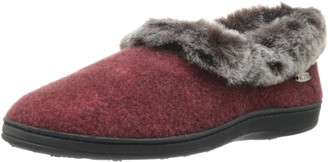 Acorn Women's Chinchilla Collar Slipper Crackleberry Large 8-9 M US