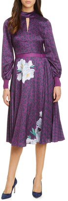 Ted Baker Jhenni Wilderness Mix Print Long Sleeve Dress