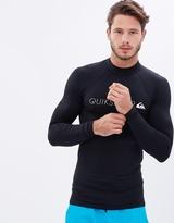 Quiksilver Mens Heater Long Sleeve Rash Vest