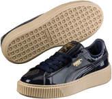 Puma Women's Basket Platform Patent Sneaker