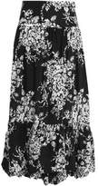 Sonia Rykiel Asymmetric Printed Cotton Maxi Skirt