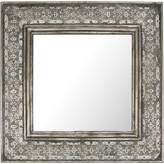 Casa Uno Square Wide Metal Cutout Mirror