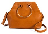 Cesca Women's Red Ring Detail Tote Handbag - Caramel