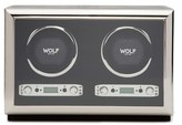 Wolf Exotic Double Watch Winder - Black
