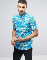 French Connection Tropical Floral Print with Short Sleeve