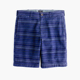 """J.Crew 9"""" Short In Textured Blue Stripe"""