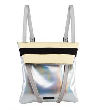 Maria Maleta Backpack Silver & Yellow