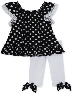 Rare Editions Baby Girls 2-Pc. Dot-Print Tunic & Leggings Set
