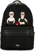 Dolce & Gabbana Volcano designers patch backpack - men - Leather/Nylon/Polypropylene - One Size