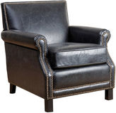 One Kings Lane Lawrence Club Chair, Black Leather