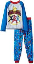 Power Rangers Big Boys' Mighty Morphins 2 Piece Jersey Sleep Set