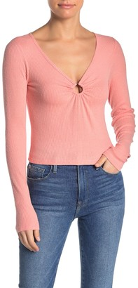 Love, Fire O-Ring Rib Knit Shirt