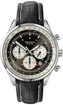 Sekonda 3408.27 Pilot's Chronograph Leather Strap Watch, Black