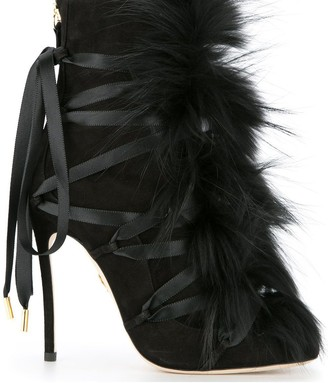DSQUARED2 faux-fur embellished boots