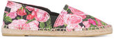 Dolce & Gabbana rose print espadrilles - kids - Cotton/Leather/rubber - 37