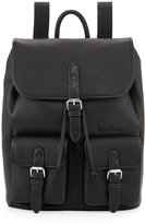 Robert Graham Johnson Leather Flap-Top Backpack, Black