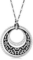 Ice Sterling Silver Rhodium Plated Multi Style Triple Circle Pendant
