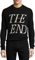 McQ The End Wool-Cashmere Crewneck Sweater