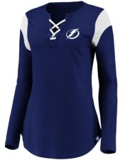 Majestic Tampa Bay Lightning Women's Iconic Lace Up Long Sleeve Shirt