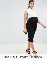Asos Over The Bump Ruffle Bodycon Skirt