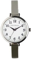 Tokyobay Tokyo Bay T523-GR Women's Stainless Steel Two-Tone Leather Band Dial Watch