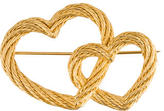 Christian Dior Interlocking Rope Hearts Brooch