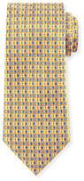 Ermenegildo Zegna Four-Petal Floral Printed Silk Tie