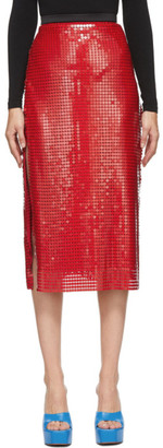 Christopher Kane Red Chainmail Skirt