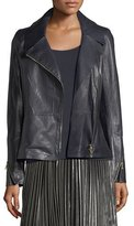 Lafayette 148 New York Kimbry Leather Moto Jacket